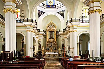 Church Pillars Photograph - Church Interior In Puerto Vallarta by Elena Elisseeva
