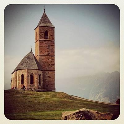 Mountain Photograph - Church Of Santa Giustina - Alto Adige by Luisa Azzolini