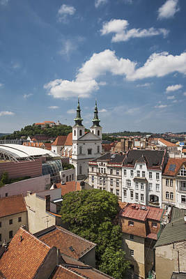 Church Of St Michael, Spilberk Castle And The Town Print by Maremagnum