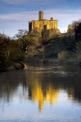 Church Reflection In Water, Warkworth Print by John Short