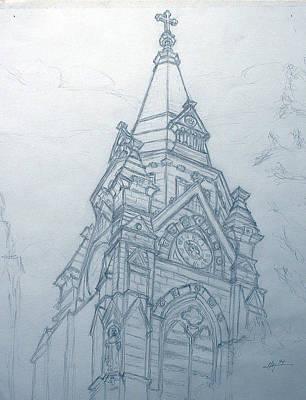 Church Steaple Print by Robert May