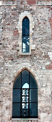 Church Windows Print by Shirley Mitchell