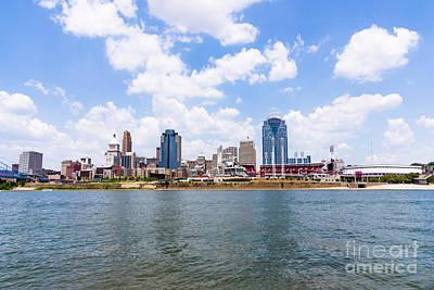 Ohio River Landscapes Photograph - Cincinnati Skyline And Downtown City Buildings by Paul Velgos
