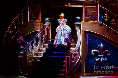Ball Gown Digital Art - Cinderella Enters The Ball by Darleen Stry