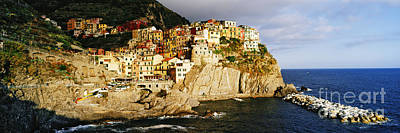 Cinque Terra Town Of Manarola Print by Jeremy Woodhouse