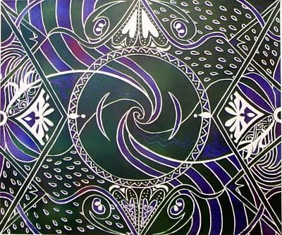 Lino Relief - Circle Print by Samar Asamoah