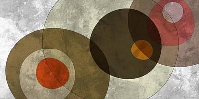 Circled Tones Print by Nomi Elboim