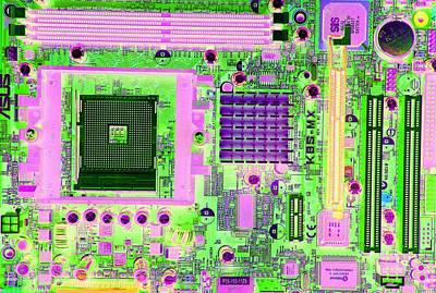 Circuit Board Print by Victor De Schwanberg