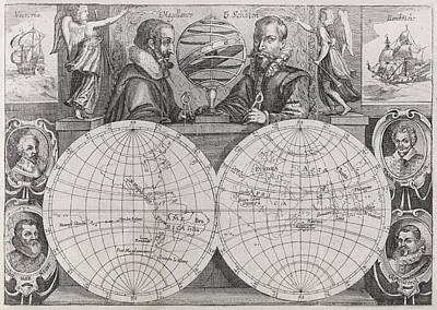 Circumnavigators, 16th To 17th Century Print by Middle Temple Library