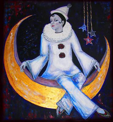 Cirque De La Lune Print by Barbara Jean Lloyd