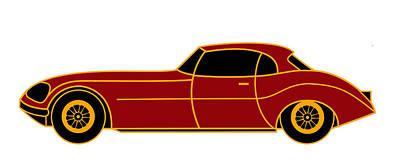 Citroen E - Virtual Car Print by Asbjorn Lonvig