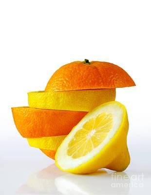 Citrus Slices Print by Carlos Caetano
