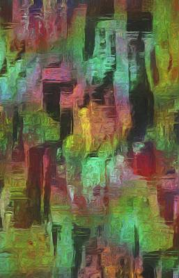 Merging Digital Art - City At Night by Jack Zulli