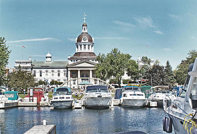 City Hall Kingston Ontario Canada Print by Peggy Holcroft
