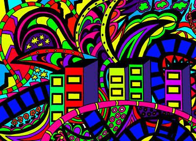 City Life Print by Karen Elzinga