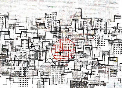 City Lines II  Print by Andy  Mercer