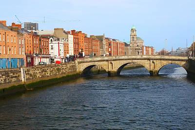 City Of Dublin Print by Artur Bogacki