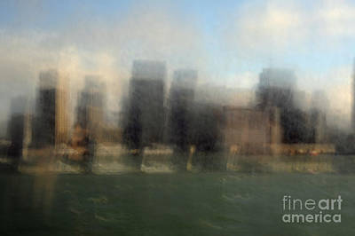 Grey Clouds Photograph - City View Through Window by Catherine Lau