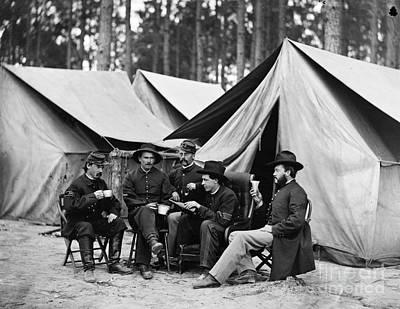 Civil War: Drinking, 1864 Print by Granger