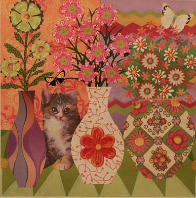 Orange Tabby Mixed Media - Clandestine Kitten by Maggie Ruth