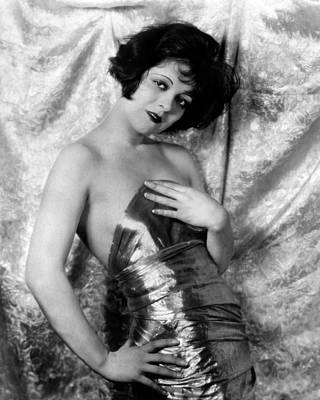 Gold Lame Photograph - Clara Bow, 1926 by Everett