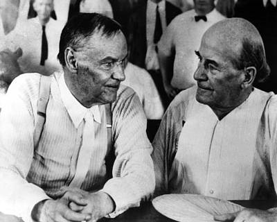 Clarence Darrow And William Jennings Print by Everett