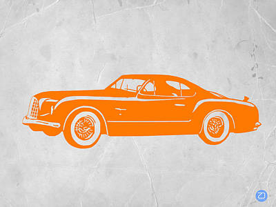 Old Paper Digital Art - Classic Car 2 by Naxart Studio