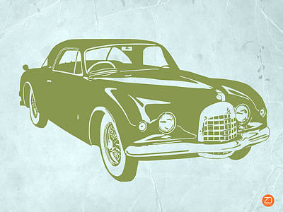 Old Paper Digital Art - Classic Car by Naxart Studio