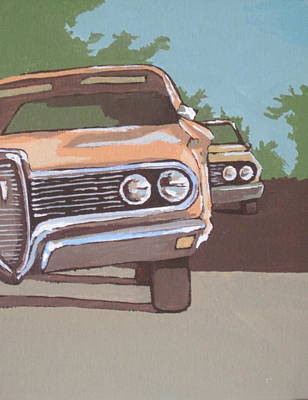 Classic Cars Print by Sandy Tracey