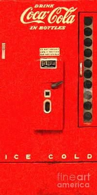 Long Size Digital Art - Classic Coke Dispenser Machine . Long Cut by Wingsdomain Art and Photography
