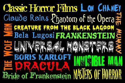 Classic Horror Films Print by Jaime Friedman