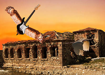 Parthenon Digital Art - Classic Rock by Eric Kempson