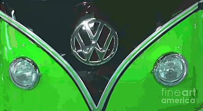 Hippie Van Photograph - Classic Volkswagen 2 by Cheryl Young