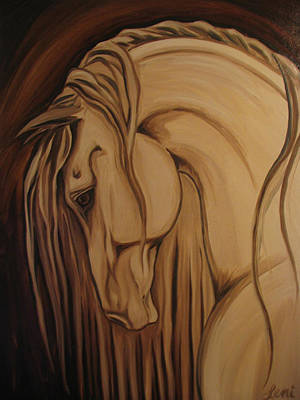 Windblown Painting - Classical Andalusian Horse II by Leni Tarleton