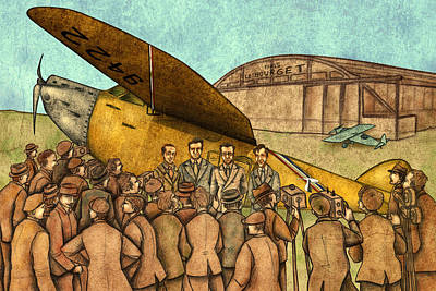 20 Painting - Classical Planes 1 by Autogiro Illustration