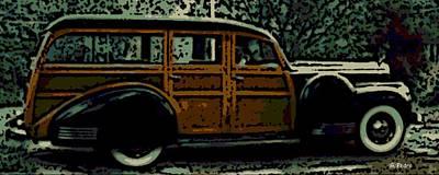 Classic Woodie Digital Art - Classy Woodie by George Pedro