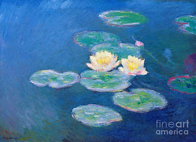 Claude Monet Nympheas 1907 Print by Pg Reproductions