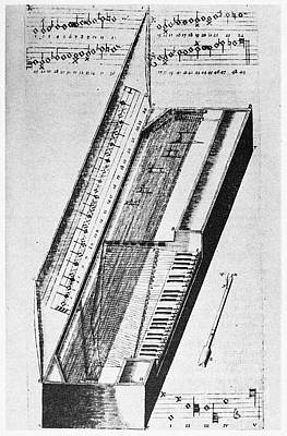 1636 Photograph - Clavichord, 1636 by Granger