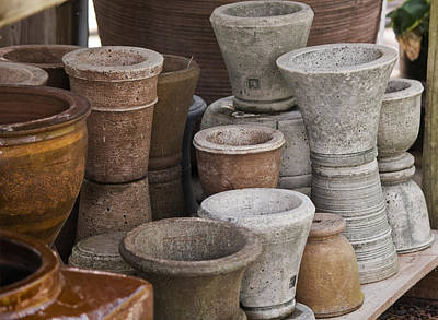 Fired Clay Photograph - Clay Pots by Teresa Mucha