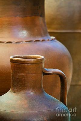 Handmade Photograph - Clay Pottery by Carlos Caetano