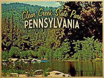 Camping Digital Art - Clear Creek Pennsylvania by Flo Karp