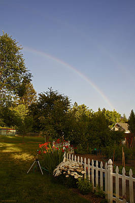 Clear Sky Rainbow Print by Mick Anderson