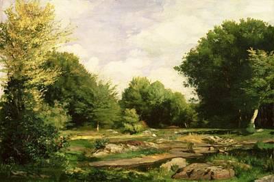 Clearing In The Woods Print by Pierre Auguste Renoir
