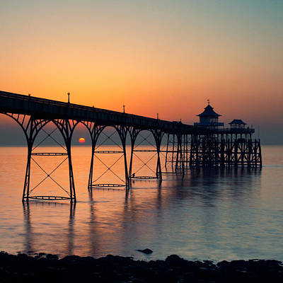 Clevedon Pier Print by Martin Turner