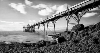 Clevedon Photograph - Clevedon Pier by Photographer Nick Measures