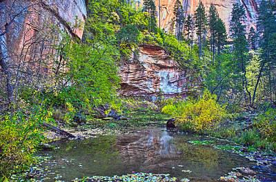 West Fork Digital Art - Cliff Reflecting by Brian Lambert