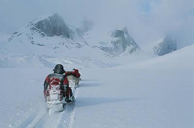 Transportation Of Goods Photograph - Climbers Travel Over Baffin Island Via by Gordon Wiltsie