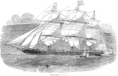 Clipper Ship, 1853 Print by Granger