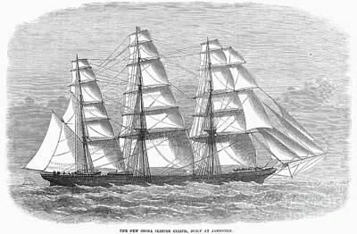 Clipper Ship, 1869 Print by Granger