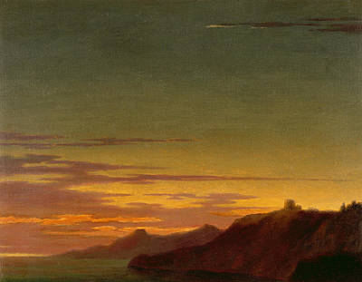Cloudy Day Painting - Close Of The Day - Sunset On The Coast by Alexander Cozens